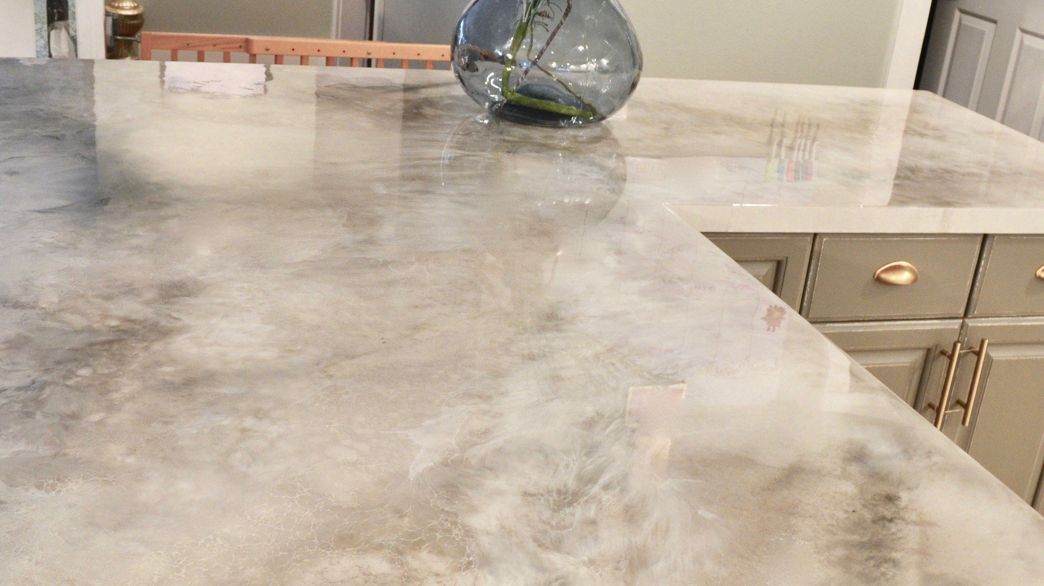An Affordable Solution To Ugly Countertops