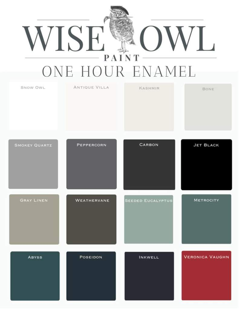 Wise Owl One Hour Emamel paint for furniture