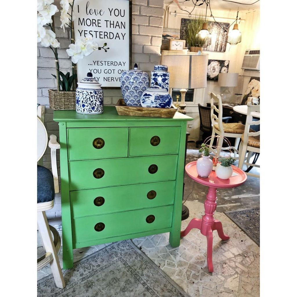 Green Dresser at Frickin' Fab South Tampa